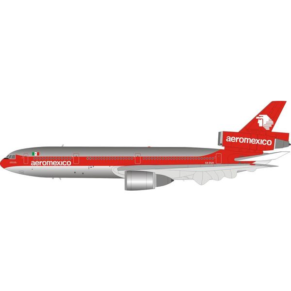 InFlight DC10-30 Aeromexico XA-DUH 1:200 polished with stand