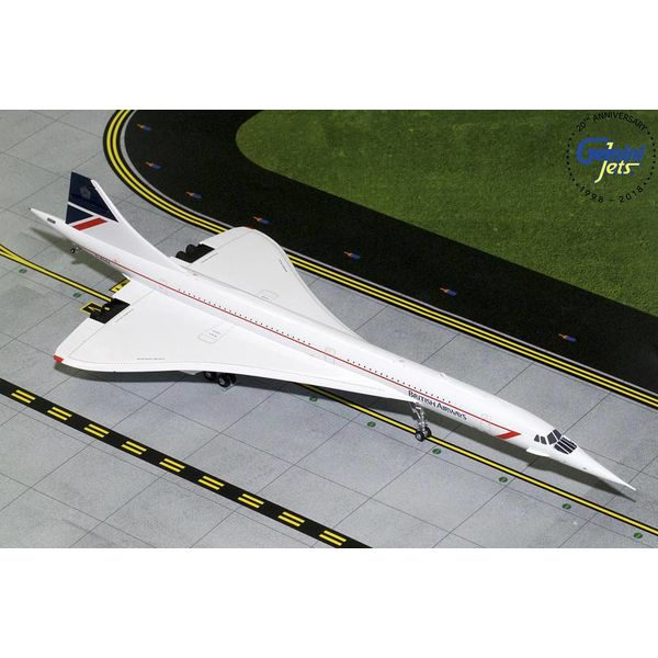 Gemini Jets Concorde British Airways Landor Livery G-BOAA 1:200 with stand