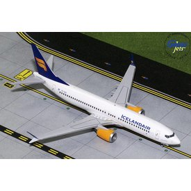 Gemini Jets B737 MAX8 Icelandair New Livery TF-ICE 1:200 with stand