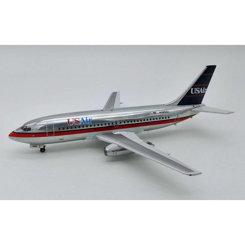 B737-200 US Air N286AU 1:200 Polished with stand