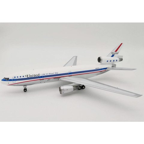 DC10-10 United Airlines N1817U DC10 Friend Ship Polished 1:200 with stand