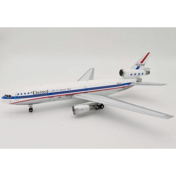 InFlight DC10-10 United Airlines N1817U DC10 Friend Ship Polished 1:200 with stand