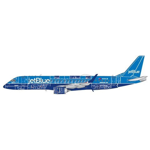 ERJ190 JetBlue (Blueprint Livery) N304JB 1:200**o/p**