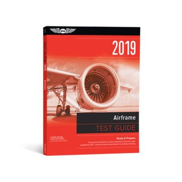 ASA - Aviation Supplies & Academics Airframe Test Guide 2019 softcover