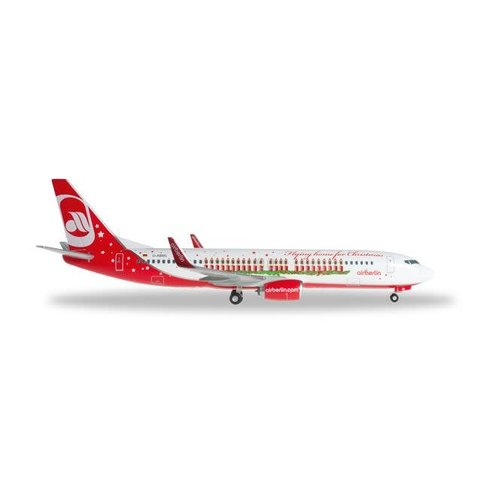 Herpa Air Berlin 737-800W Flying Home For Christmas 1:200 with stand