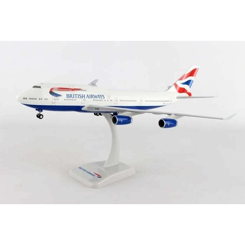 B747-400 British Airways Union Jack Livery G-EYGG 1:200 with gear+stand