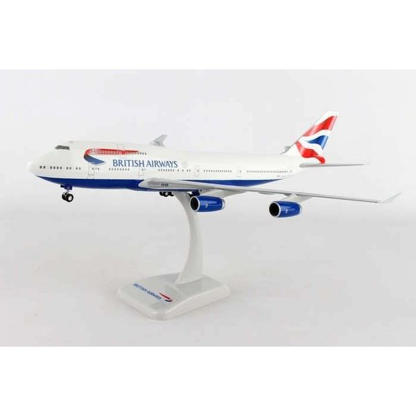 Hogan B747-400 British Airways Union Jack Livery G-EYGG 1:200 with gear+stand