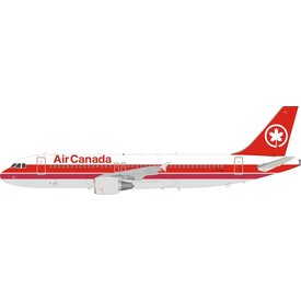 InFlight A320 Air Canada 1988 Double Red Cheatline Livery C-FDQQ 1:200 with stand