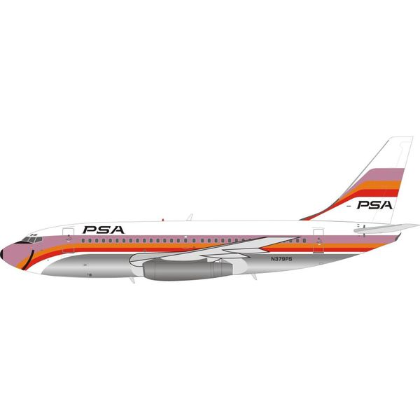 InFlight B737-200 PSA Pacific Southwest Airlines N379PS 1:200 polished with stand