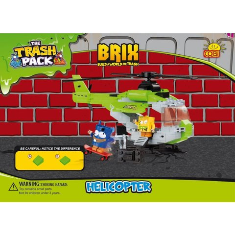 Helicopter Cobi Trash Pack 200 pieces