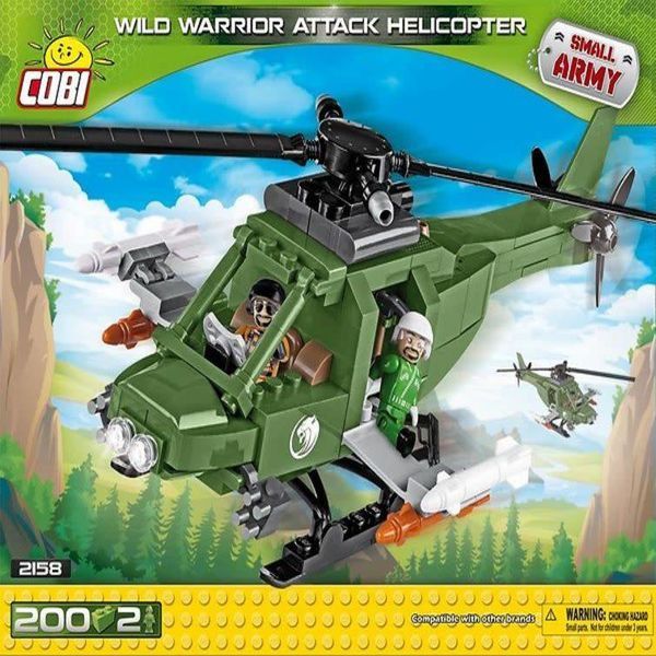 Cobi Wild Warrior Attack Helicopter Small Army Cobi (200 pieces)