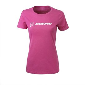 Boeing Store Ladies Signature Tee Raspberry