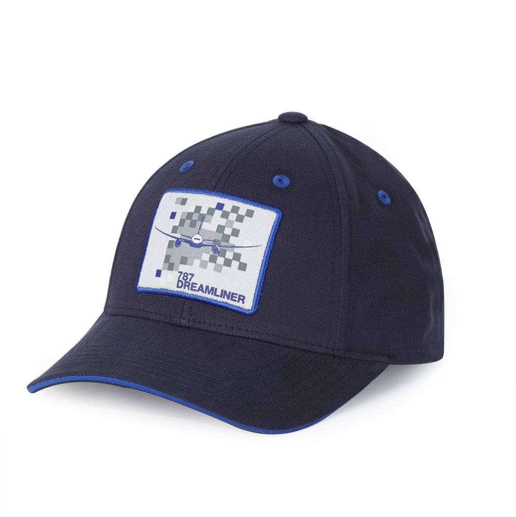 e0db6ca3c60d8 787 Dreamliner Pixel Graphic Hat Cap by Boeing Store