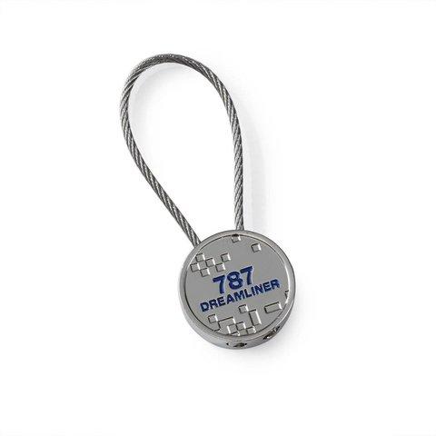 787 Dreamliner Pixel Graphic Keychain