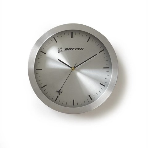 Rotating Plane Wall Clock