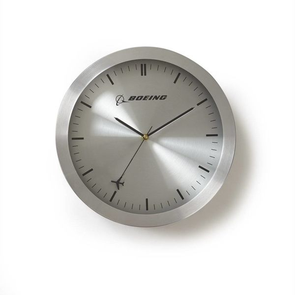Boeing Store Rotating Plane Wall Clock