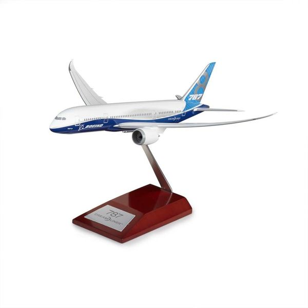 Hogan B787-8 Boeing House Livery 1:200 wood stand