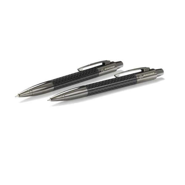 Boeing Store Carbon Fiber Pen and Pencil Set