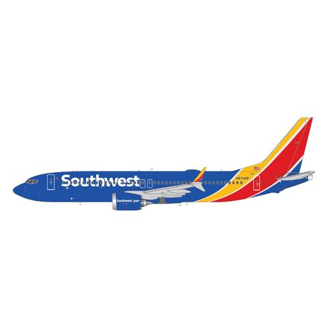 B737 MAX8 Southwest 2014 livery N8706W 1:200 with stand (2nd release)
