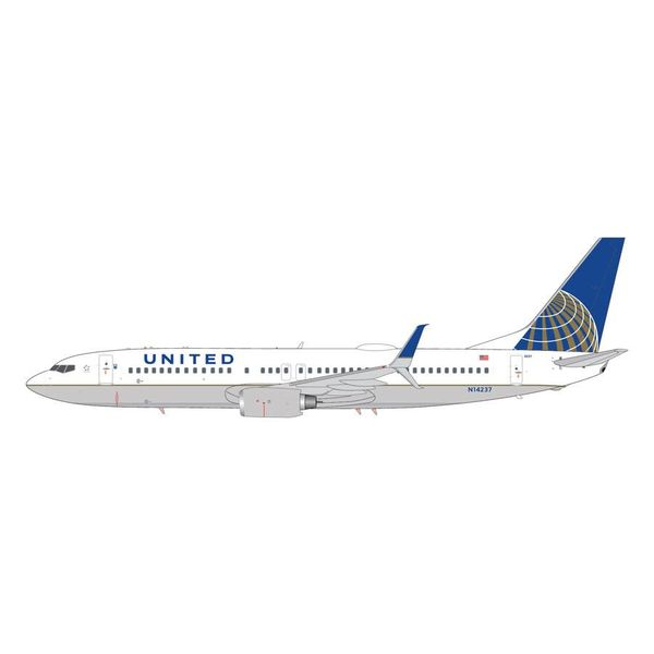 Gemini Jets B737-800S United 2010 livery N14237 (Scimitars) 1:200 with stand (2nd release)