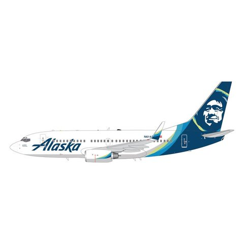 B737-700W Alaska 2015 livery N614AS 1:200 with stand