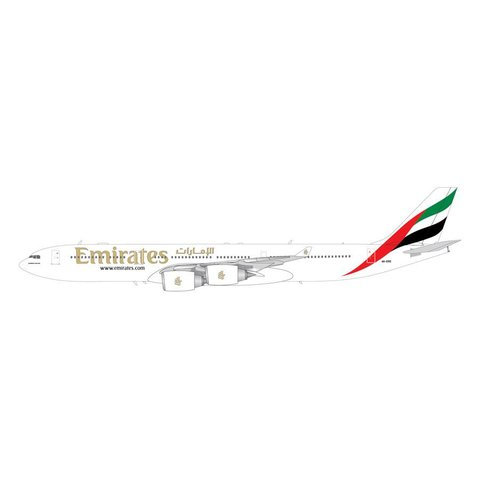 A340-500 Emirates A6-ERE 1:200 with stand