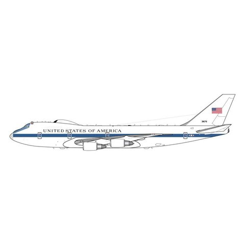 E4B (B747-200) US Air Force NAOC 73-1676 1:200 with stand