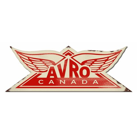 Avro Canada Metal Sign Red