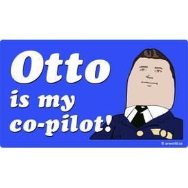 Otto Is My Co-Pilot Sticker