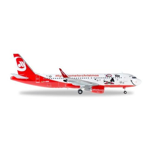 Herpa Air Berlin A320 Lindt Christmas 1:200 with stand