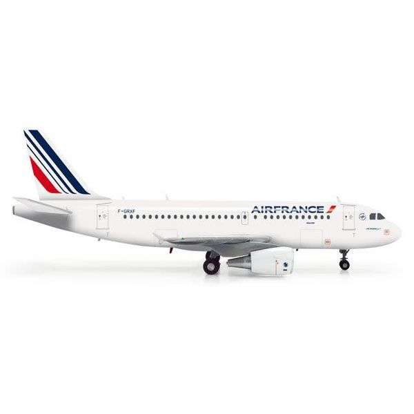 Herpa A319 Air France 1:200 with stand