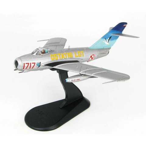 LiM5 (MiG17) 45th Experimental Aviation Squadron RED 1717 OSTATNI LOT Polish AF 12th July 1993 1:72 with stand