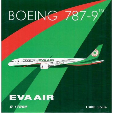 B787-9 Dreamliner EVA Air New Livery 2018 787 Large Titles B-17882 1:400 by  Phoenix