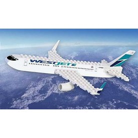 Best-Lock Construction Toys Westjet new livery 2018 55 Piece Construction Toy