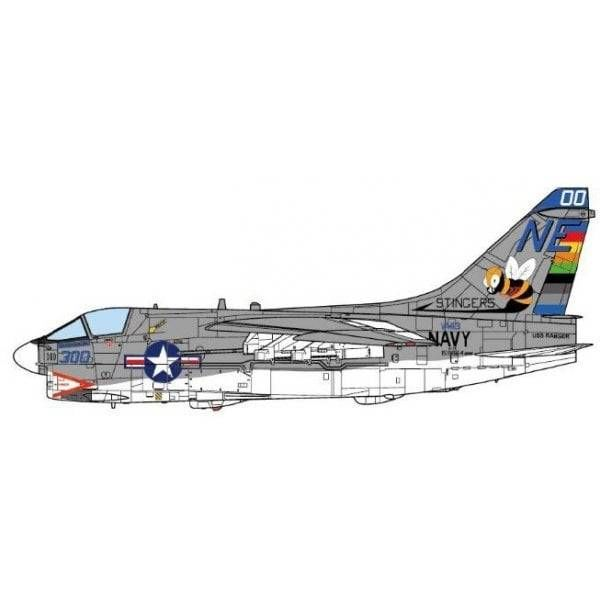 JC Wings A7E Corsair II VA113 Stingers CAG NE-00 US Navy USS Ranger CVA61 1975 1:72 (no stand)