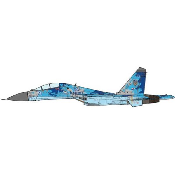 JC Wings SU27UB Flanker-C Ukrainian Air Force CADPAT RED 71 2016 1:72 (no stand)