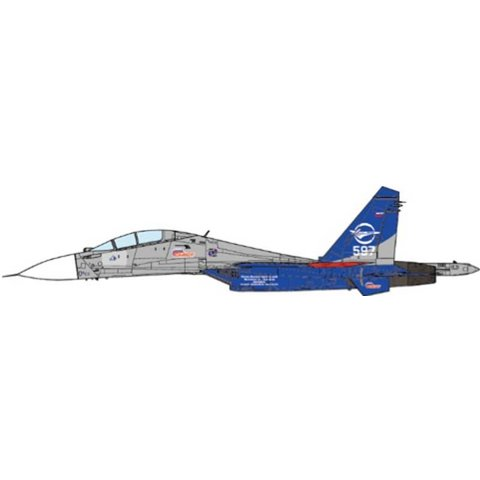 SU30LL Flanker Gromov Flight Research Institute WHITE 507 2006 1:72 (no stand)
