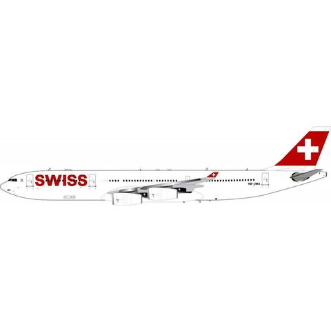 A340-300 Swiss HB-JMA 1:200 With Stand