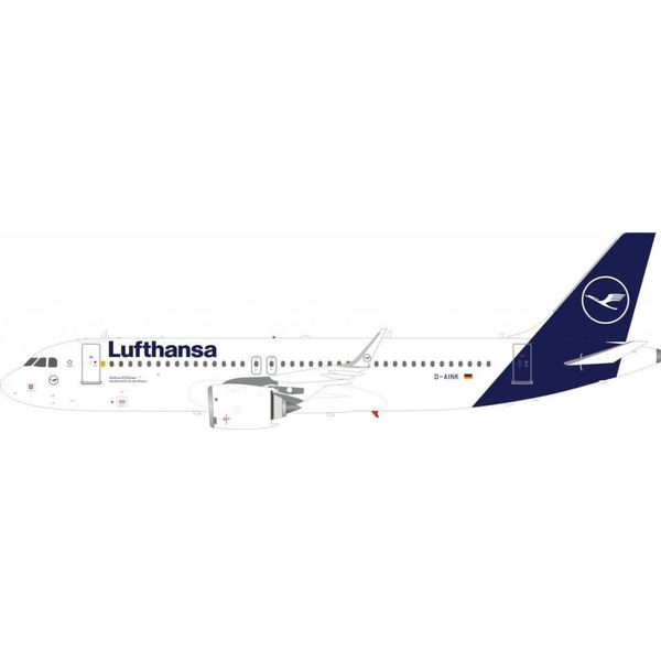JFOX A320S Lufthansa new livery 2018  D-AINK (sharklets) 1:200 With Stand