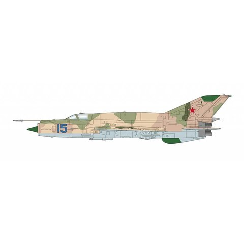 MIG21MT Blue 15 Dolgoye Ledovo Russia 1970s 1:72 with stand