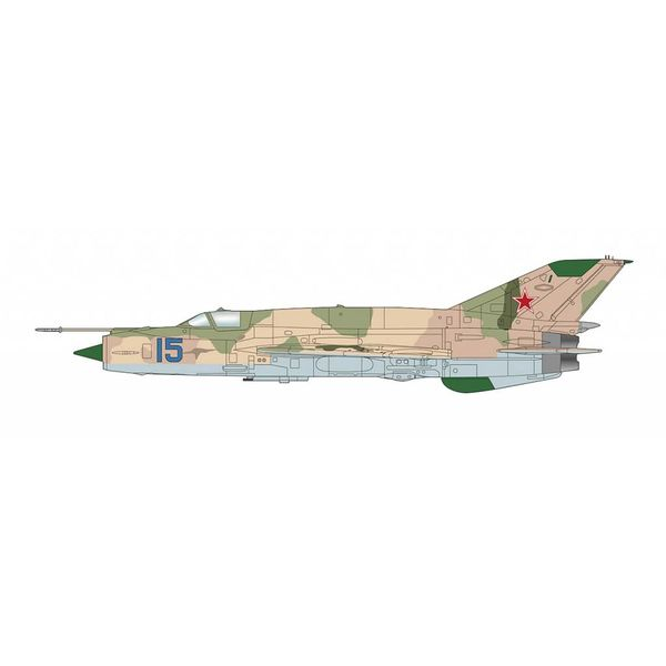 Hobby Master MIG21MT Blue 15 Dolgoye Ledovo Russia 1970s 1:72 with stand