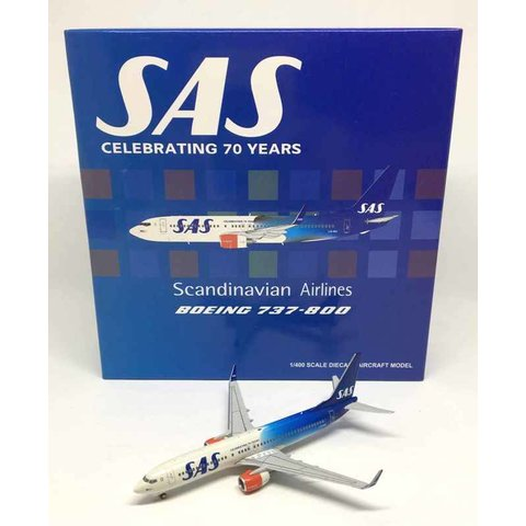 B737-800W SAS Scandinavian 70th Anniversary LN-RGI 1:400**o/p**
