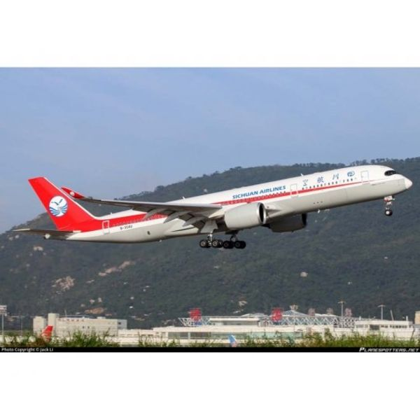 JC Wings A350-900 Sichuan Airlines B-304U 1:200 flaps down with stand