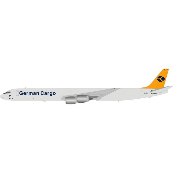 InFlight DC-8-73(CF) German Cargo D-ADUA 1:200 with stand