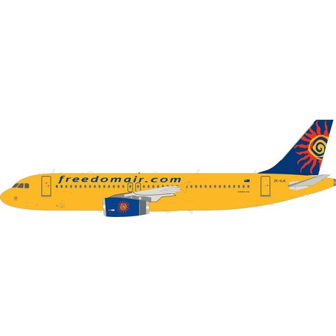 A320 Freedom Air ZK-OJK 1:200 with stand