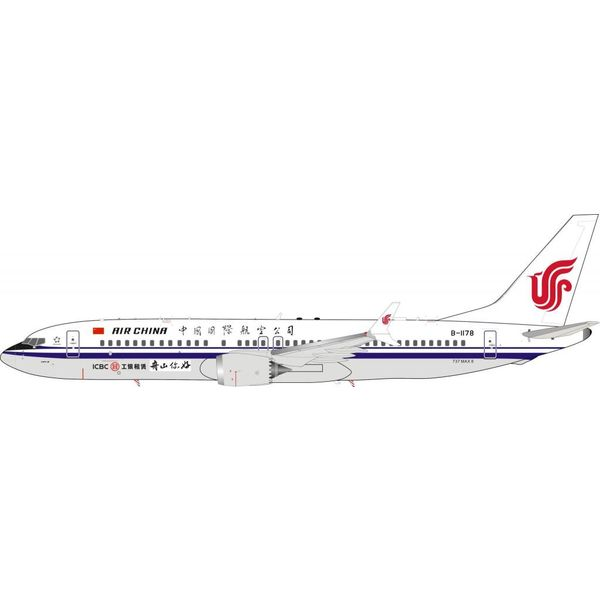 InFlight B737 MAX8 X Air China B-1178 1:200 With Stand
