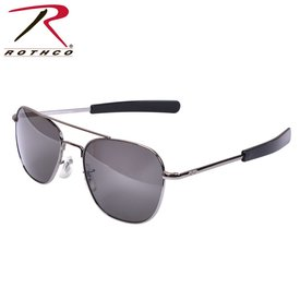 American Optical Original Chrome Pilot Sunglasses, 55mm