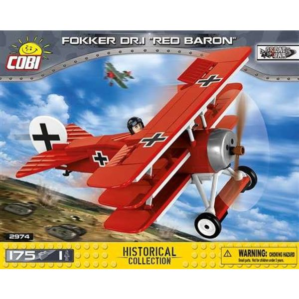 Cobi Fokker DR1 Red Baron Historical Collection Cobi Construction Toy 175 pieces