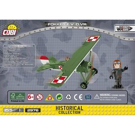 Cobi Fokker EV DVIII Green Polish Stefan Stec Historical Collection Cobi Construction Toy 155 pieces