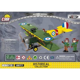 Cobi Avro 504K green / yellow Historical Collection Cobi Construction Toy 230 pieces